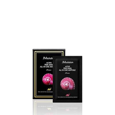 JMsolution Ampoule prime pink snail, 2мл*30шт Сыворотка ампульная с улиткой