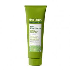 Naturia Pure body wash wild mint & lime, 100мл Гель для душа мята/лайм