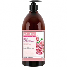 Naturia Pure body wash rose & rosemary, 750мл Гель для душа роза/розмарин