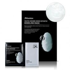 JMsolution White cocoon home esthetic modeling mask, 55г Маска с протеинами шелкопряда и жемчугом