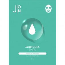 J:on Molecula snail daily essence mask, 23мл Маска для лица тканевая с улиточным муцином