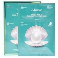 JMsolution Marine luminous pearl deep moisture mask, 30мл Набор трёхшаговый увлажняющий с жемчугом