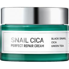 Esthetic House Snail cica perfect repair cream, 50мл Крем для лица с муцином улитки и центеллы