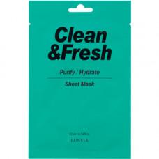 Eunyul Clean&fresh sheet mask, 22мл Маска тканевая для очищающего и увлажняющего эффекта