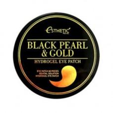 Esthetic House Black pearl&gold hydrogel eye patch, 60шт Патчи с черным жемчугом и золотом