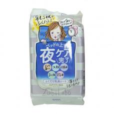 Sana Zubolabo night toning emulsion sheet, 35шт Салфетки влажные для вечернего ухода за лицом