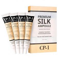 Esthetic House CP-1 Premium silk ampoule,4х25мл Сыворотка несмываемая для волос с протеинами шелка