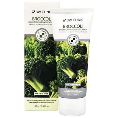3W Clinic Broccoli brightening tone up craem, 100мл Крем осветляющий с экстрактом брокколи