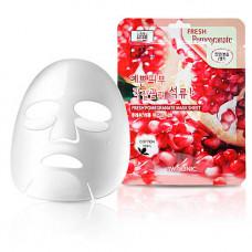 3W Clinic Fresh pomegranate mask sheet, 23мл Маска для лица тканевая с гранатом
