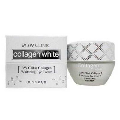 3W Clinic Collagen whitening eye cream, 35мл Крем для век осветляющий с коллагеном