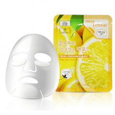 3W Clinic Fresh lemon mask sheet, 23мл Маска тканевая для лица лимон
