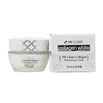 3W Clinic Collagen whitening cream, 60мл Крем для лица осветляющий с коллагеном