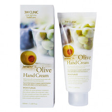 3W Clinic Olive hand cream, 100мл Крем для рук с оливковым маслом