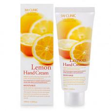 3W Clinic Lemon hand cream, 100мл Крем для рук с экстрактом лимона