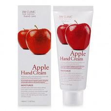 3W Clinic Apple hand cream, 100мл Крем для рук с экстрактом яблока
