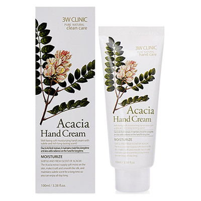 3W Clinic Acacia hand cream, 100мл Крем для рук с экстрактом акации