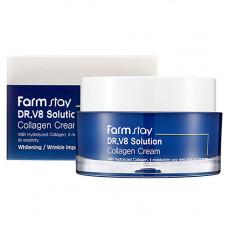 FarmStay Dr-V8 solution collagen cream, 50мл Крем для лица с коллагеном