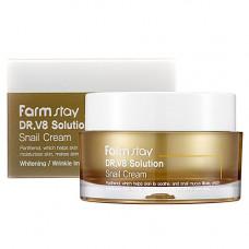 FarmStay Dr-V8 solution snail cream, 50мл Крем для лица с муцином улитки