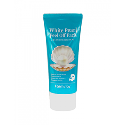 FarmStay White pearl peel off pack, 100г Маска пленка очищающая с экстрактом жемчуга