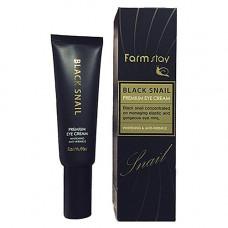 FarmStay Black snail premium eye cream, 50мл Крем для глаз премиальный с муцином черной улитки