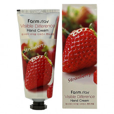 FarmStay Visible difference hand cream strawberry, 100г Крем для рук с экстрактом клубники
