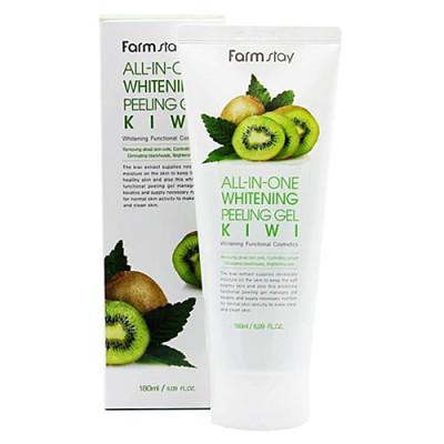 FarmStay All-In-one whitening peeling gel kiwi, 180мл Гель пилинг с экстрактом киви