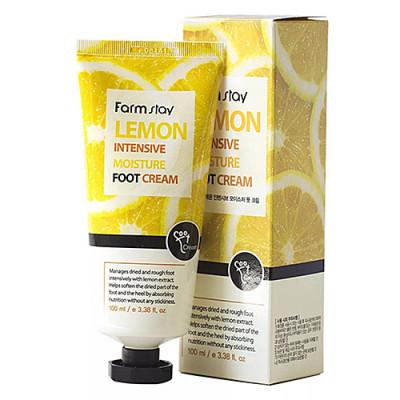 FarmStay Lemon intensive moisture foot cream, 100мл Крем для ног смягчающий с экстрактом лимона