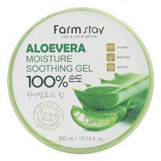 FarmStay Aloe vera moisture sooth, 300мл Гель многофункциональный с экстрактом алоэ вера