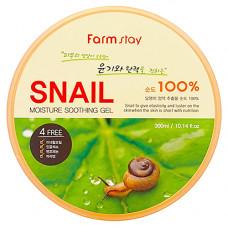 FarmStay Moisture soothing gel snail, 300 мл Гель многофункциональный с экстрактом улитки