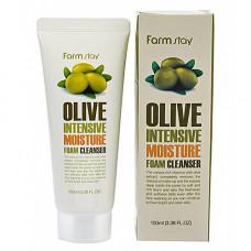 FarmStay Olive intensive moisture foam cleans, 100 мл Пенка очищающая с экстрактом оливы