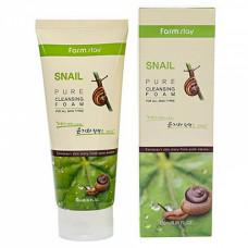 FarmStay Snail pure cleansing foam, 180мл Пенка очищающая с экстрактом улитки