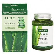 FarmStay Aloe all-In one ampoule, 250мл Средство ампульное многофункциональное с экстрактом алоэ