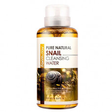 FarmStay Pure natural snail cleansing water, 500мл Вода очищающая с экстрактом муцина улитки