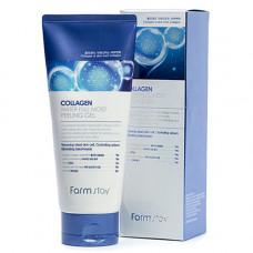 FarmStay Collagen water full moist peeling gel, 180мл Гель для лица отшелушивающий с коллагеном