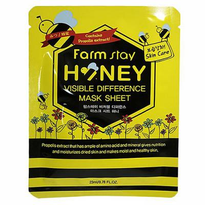 FarmStay Visible difference mask sheet honey, 23мл Маска тканевая с экстрактом меда