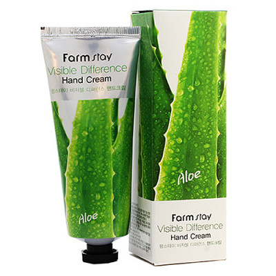 FarmStay Aloe vera visible difference hand cream, 100г Крем для рук с экстрактом алоэ