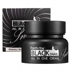 FarmStay Black snail all in one cream, 100мл Крем для лица с муцином черной улитки