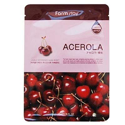 FarmStay Visible difference mask sheet acerola, 23мл Маска тканевая с экстрактом ацеролы