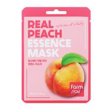 FarmStay Real peach essence mask, 23мл Маска тканевая для лица с экстрактом персика