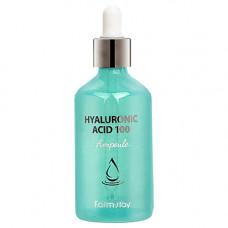 FarmStay Hyaluronic acid 100 ampoule, 100мл Сыворотка увлажняющая с гиалуроновой кислотой
