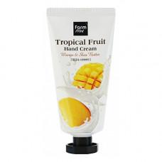 FarmStay Tropical fruit hand cream mango and shea butter, 50мл Крем для рук тропические фрукты