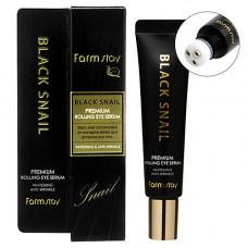 FarmStay Snail premium rolling eye serum, 25мл Cыворотка для кожи вокруг глаз с муцином улитки