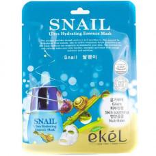 Ekel Essence mask snail, 25г Маска для лица тканевая с улиточным муцином