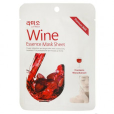 La Miso Wine essence mask sheet, 21г Маска с экстрактом красного вина