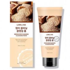 Lebelage Brown rice cleaning cleansing foam, 180мл Пенка для умывания с рисом