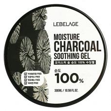 Lebelage Moisture charcoal 100% soothing gel, 300мл Гель увлажняющий успокаивающий с углем