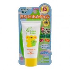 Meishoku Limo limo outdoor SPF32 PA +++ , 50г Гель солнцезащитный с эффектом отпугивания насекомых
