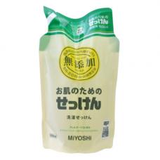 Miyoshi Additive free laundry liquid soap, 1 Средство для стирки жидкое для изделий из хлопка з/б
