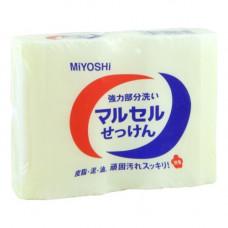 Miyoshi Laundry soap bar, 2*140г Мыло для стирки точечного застирывания стойких загрязнений
