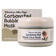 Elizavecca Milky piggy carbonated bubble clay mask, 100г Маска для лица глиняно пузырьковая